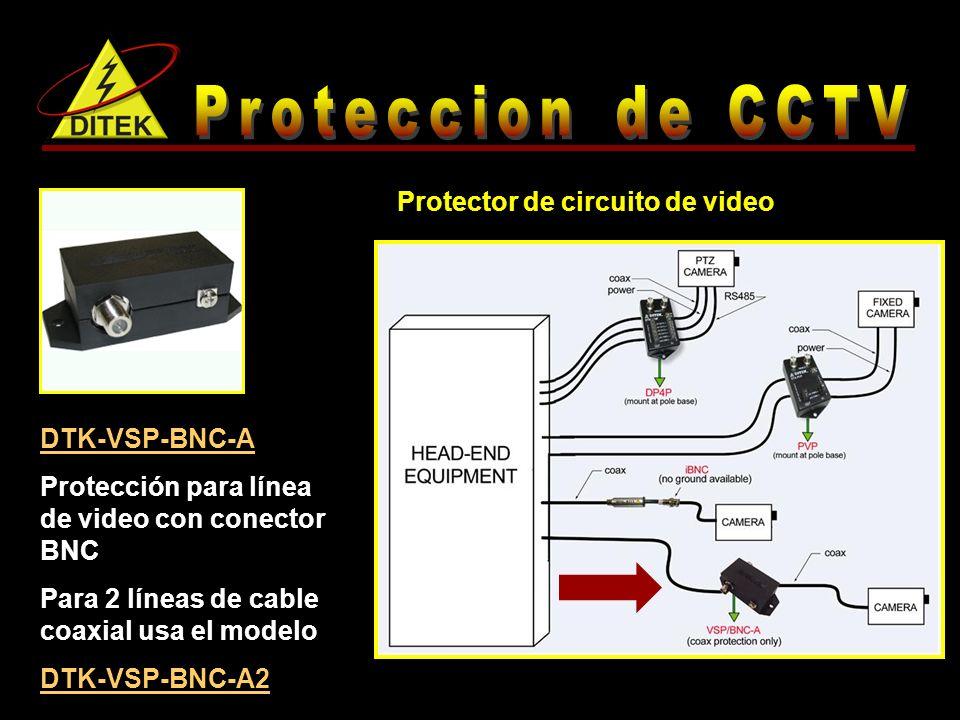 Proteccion de CCTV Protector de circuito de video DTK-VSP-BNC-A