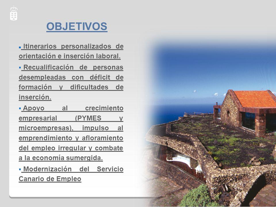OBJETIVOS Itinerarios personalizados de orientación e inserción laboral.