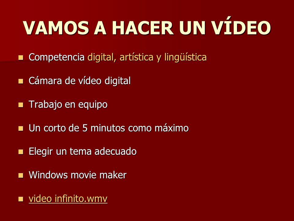 VAMOS A HACER UN VÍDEO Competencia digital, artística y lingüística