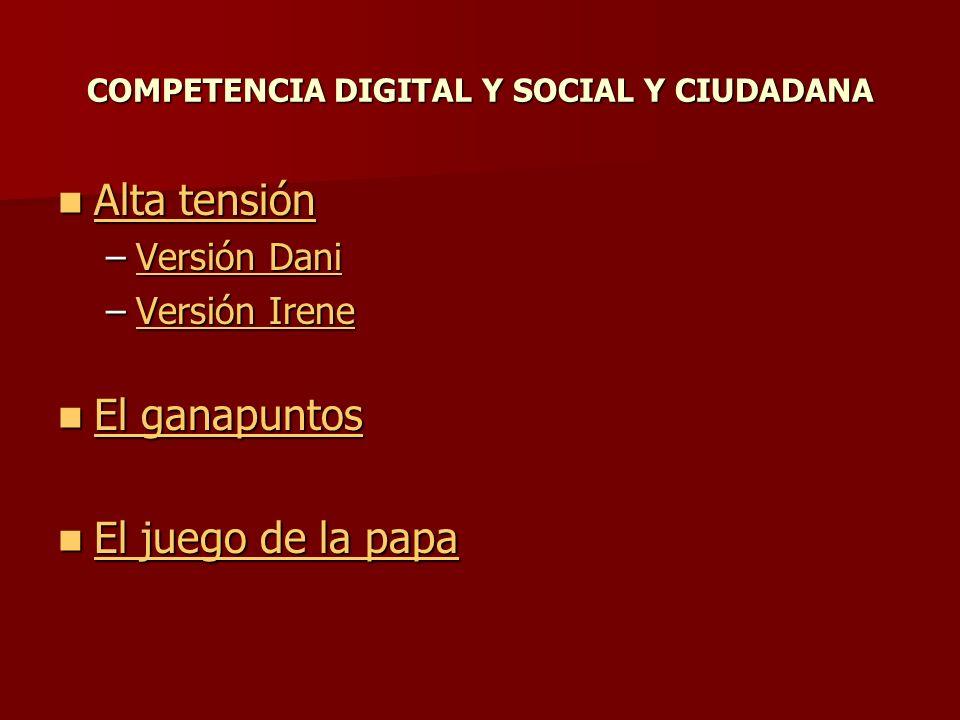 COMPETENCIA DIGITAL Y SOCIAL Y CIUDADANA