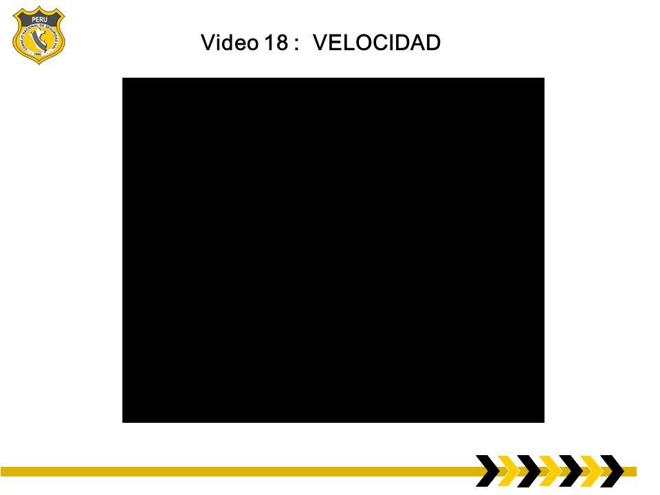 Video 18 : VELOCIDAD