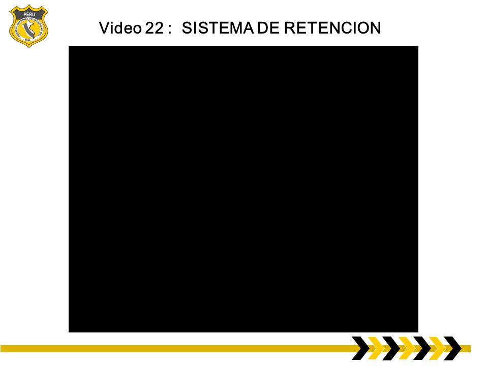 Video 22 : SISTEMA DE RETENCION