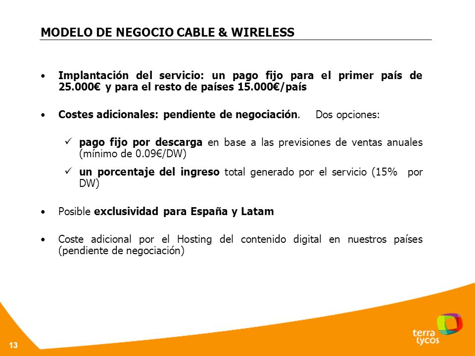 MODELO DE NEGOCIO CABLE & WIRELESS