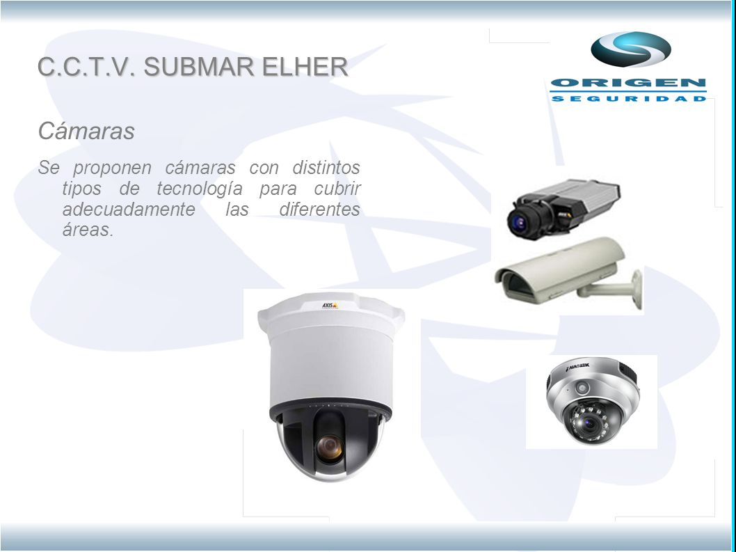 C.C.T.V. SUBMAR ELHER Cámaras