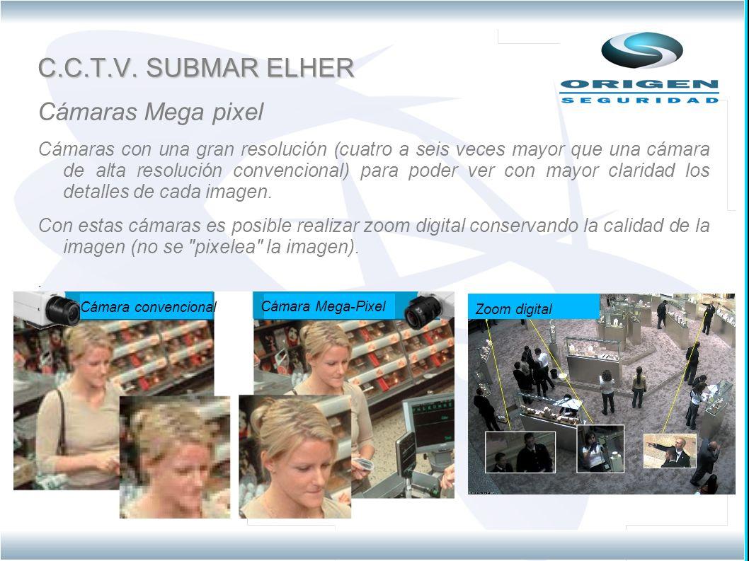 C.C.T.V. SUBMAR ELHER Cámaras Mega pixel