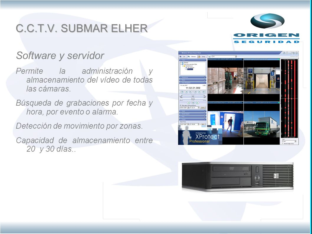 C.C.T.V. SUBMAR ELHER Software y servidor