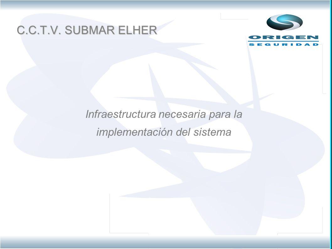 C.C.T.V. SUBMAR ELHER Infraestructura necesaria para la