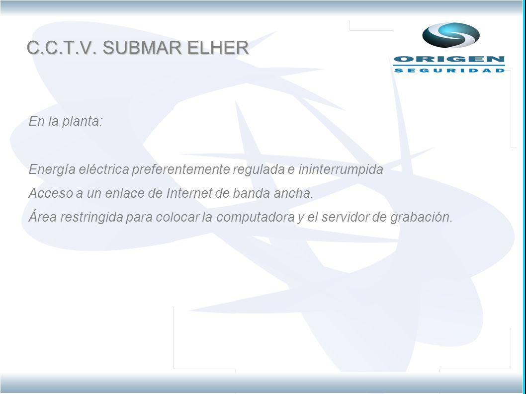 C.C.T.V. SUBMAR ELHER En la planta:
