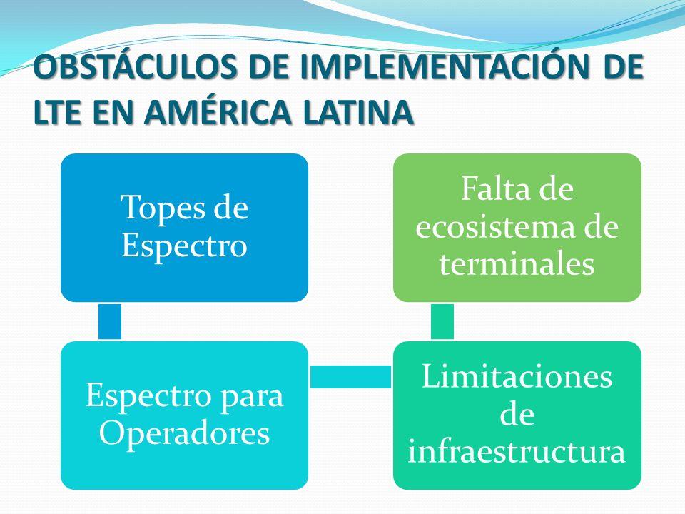 OBSTÁCULOS DE IMPLEMENTACIÓN DE LTE EN AMÉRICA LATINA