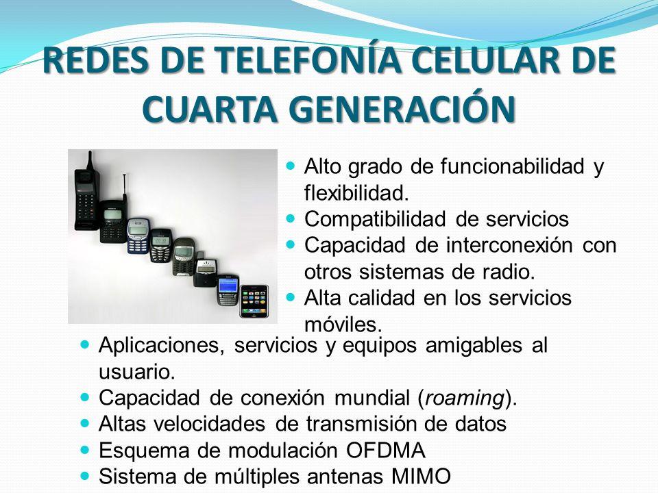 REDES DE TELEFONÍA CELULAR DE CUARTA GENERACIÓN