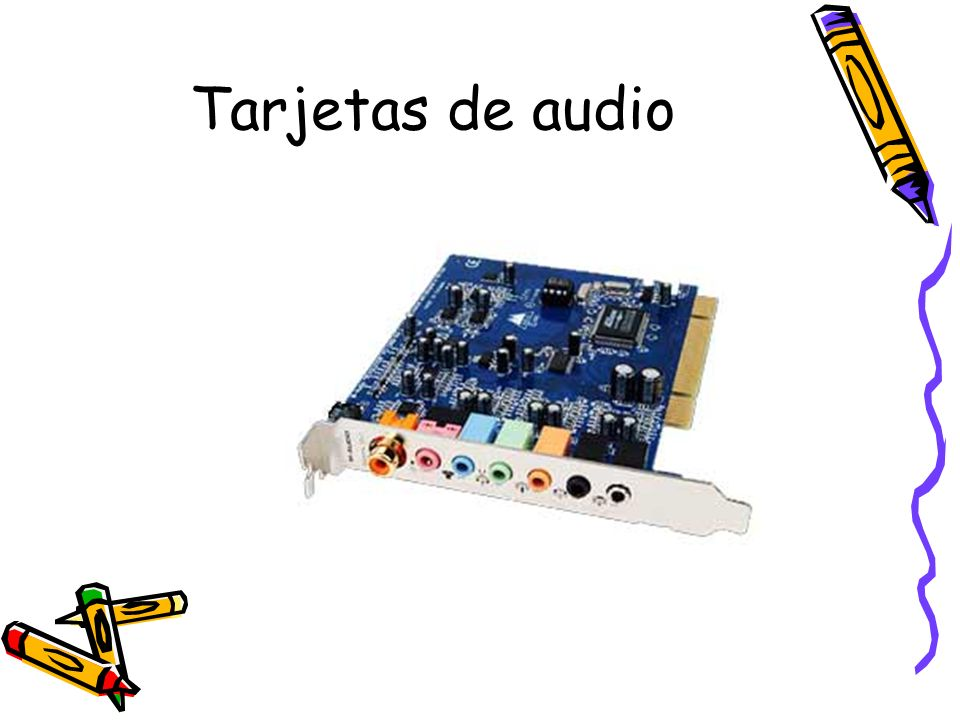 Tarjetas de audio
