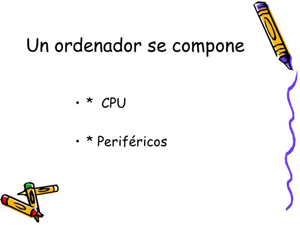 Un ordenador se compone