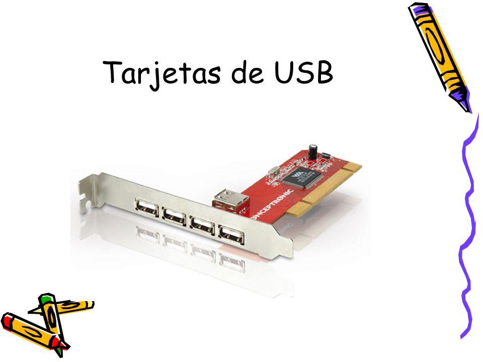 Tarjetas de USB