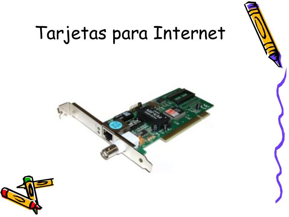 Tarjetas para Internet