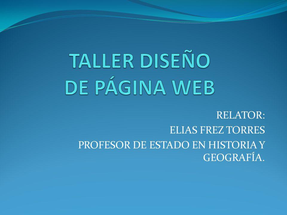 TALLER DISEÑO DE PÁGINA WEB