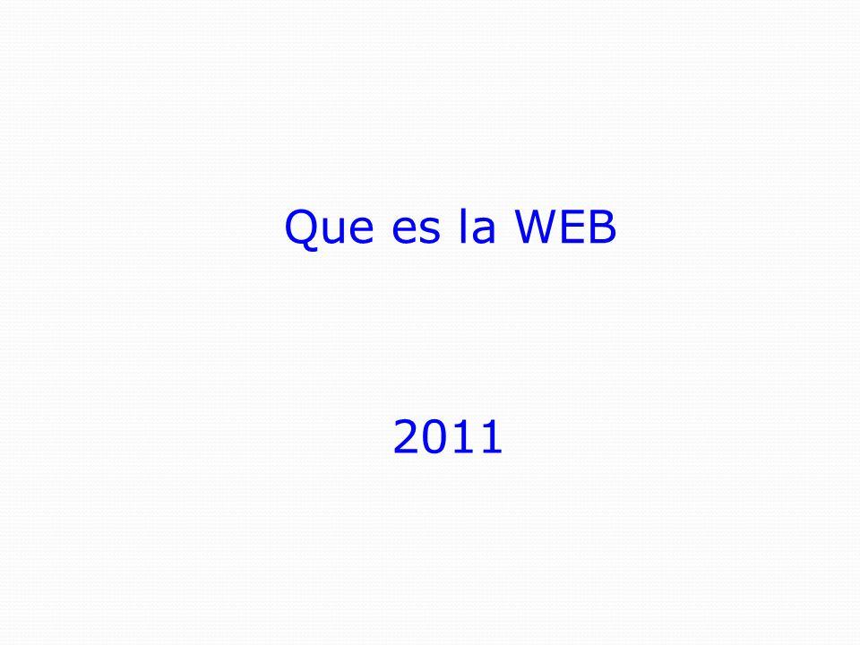 Que es la WEB 2011