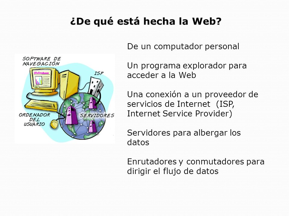 ¿De qué está hecha la Web