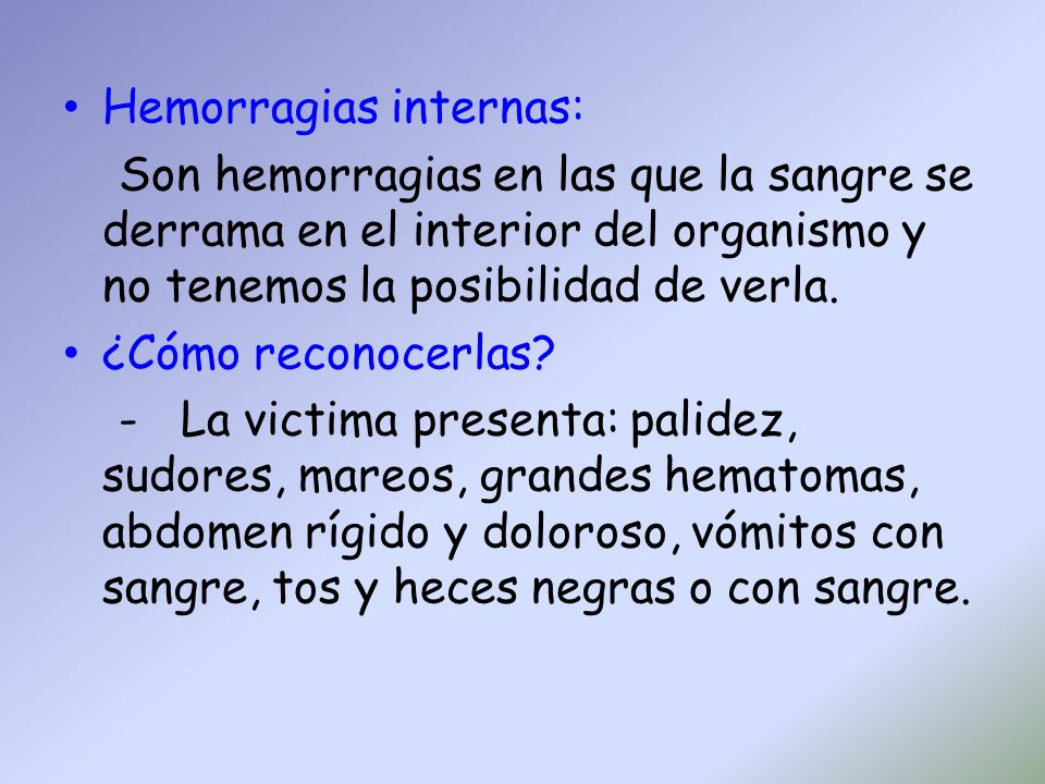 Hemorragias internas:
