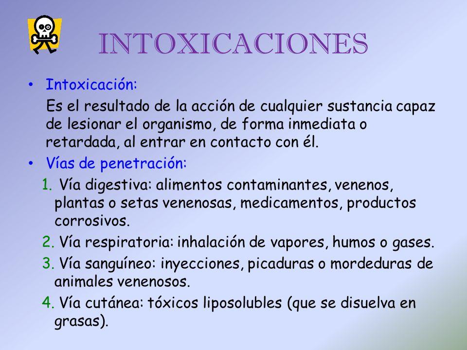 INTOXICACIONES Intoxicación: