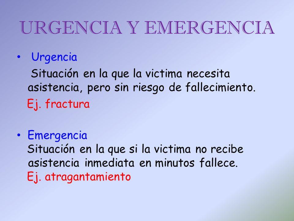 URGENCIA Y EMERGENCIA Urgencia