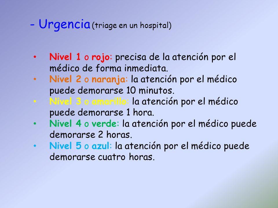 Urgencia (triage en un hospital)