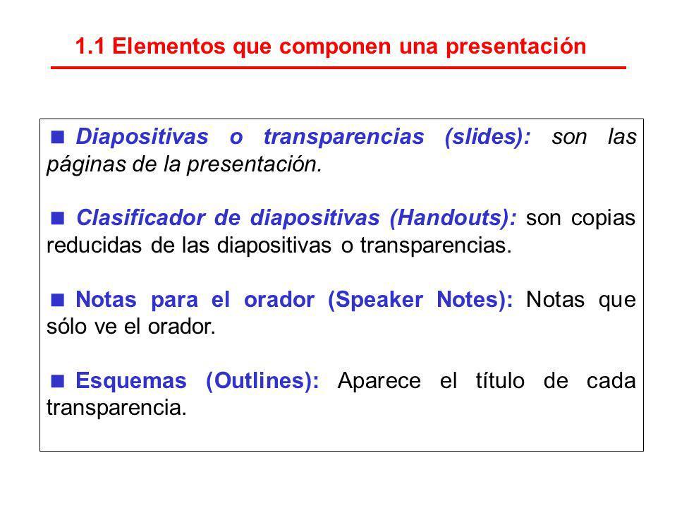 1.1 Elementos que componen una presentación