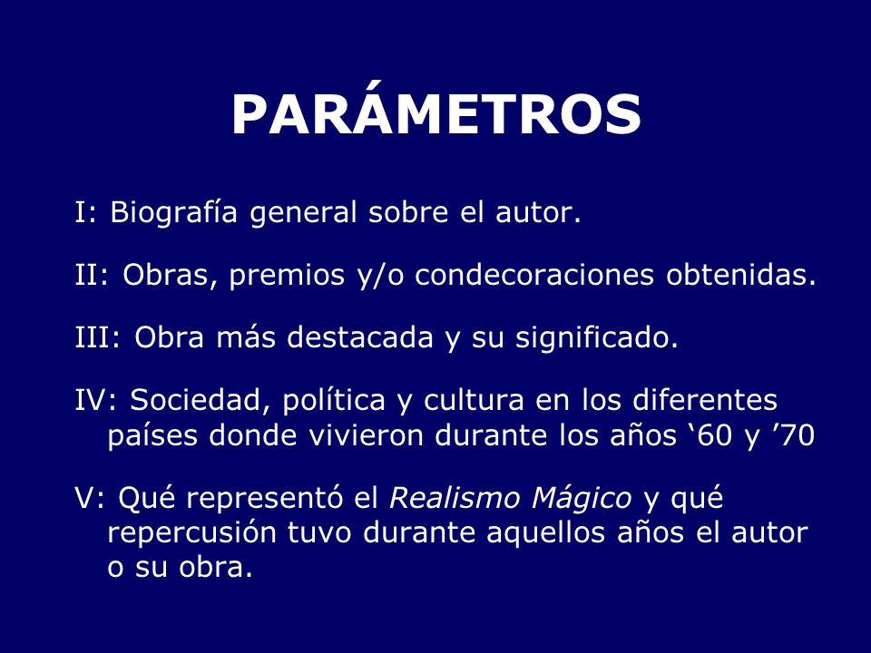 PARÁMETROS I: Biografía general sobre el autor.