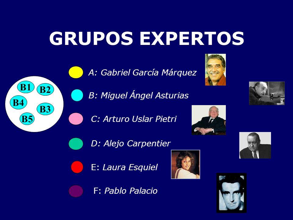 GRUPOS EXPERTOS B1 B2 B4 B3 B5 A: Gabriel García Márquez