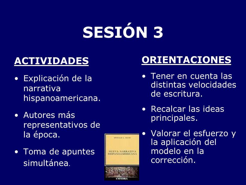 SESIÓN 3 ACTIVIDADES ORIENTACIONES