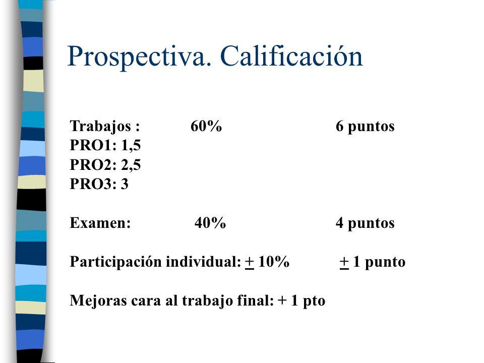 Prospectiva. Calificación