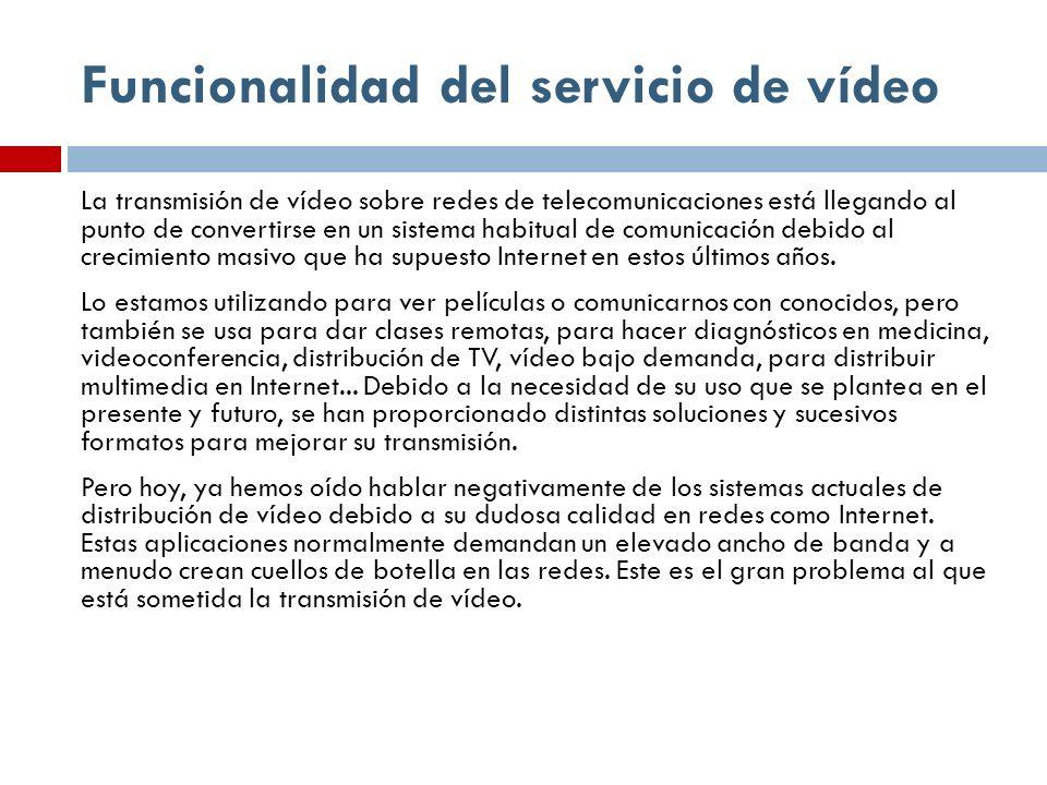 Funcionalidad del servicio de vídeo