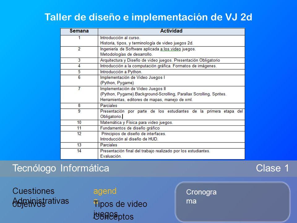 Taller de diseño e implementación de VJ 2d