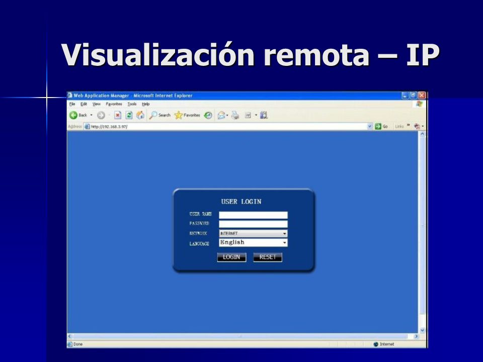 Visualización remota – IP
