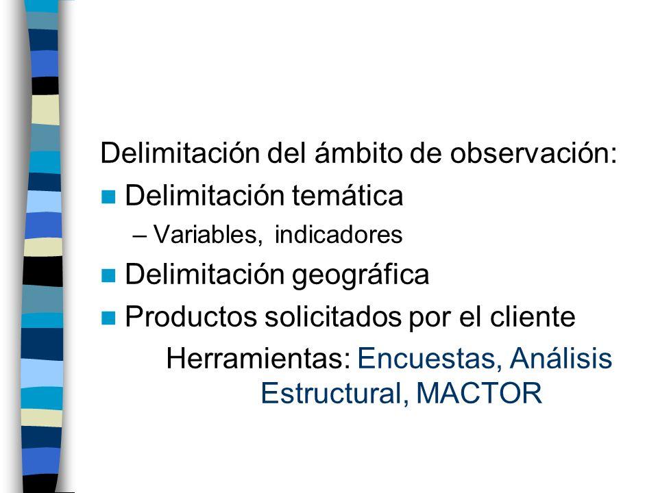 Herramientas: Encuestas, Análisis Estructural, MACTOR