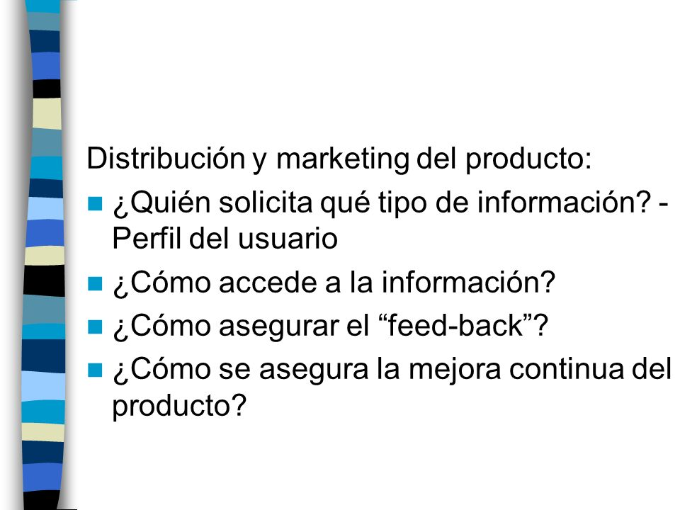 Distribución y marketing del producto: