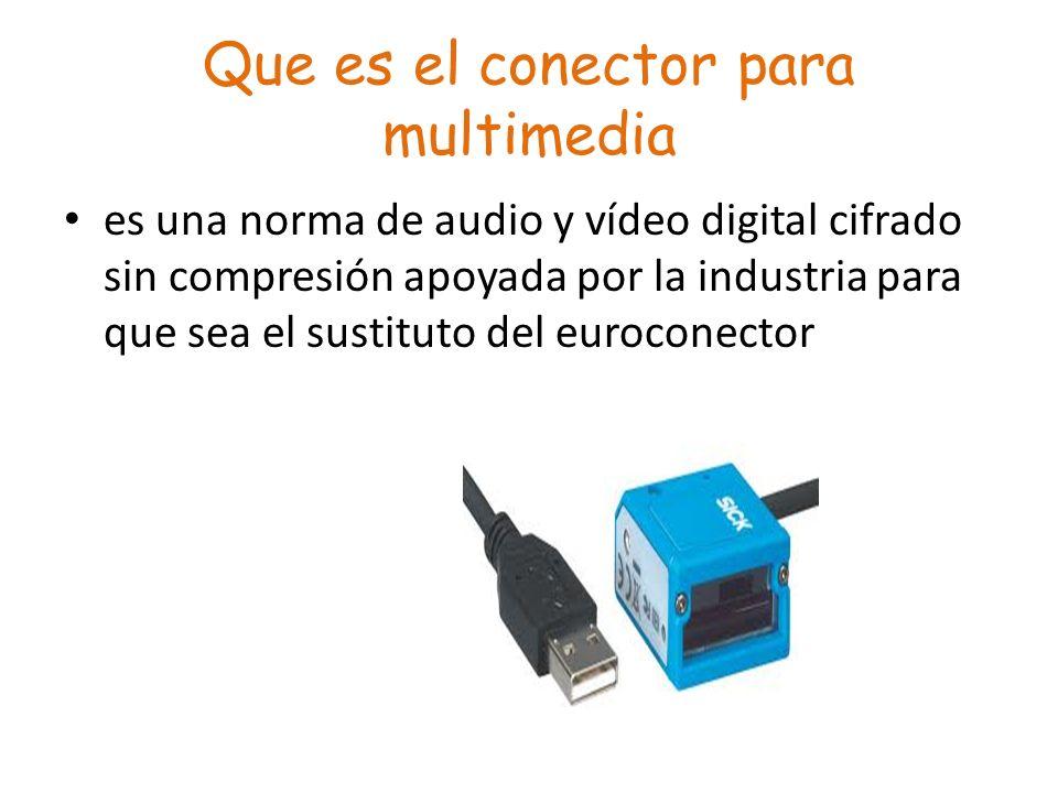Que es el conector para multimedia