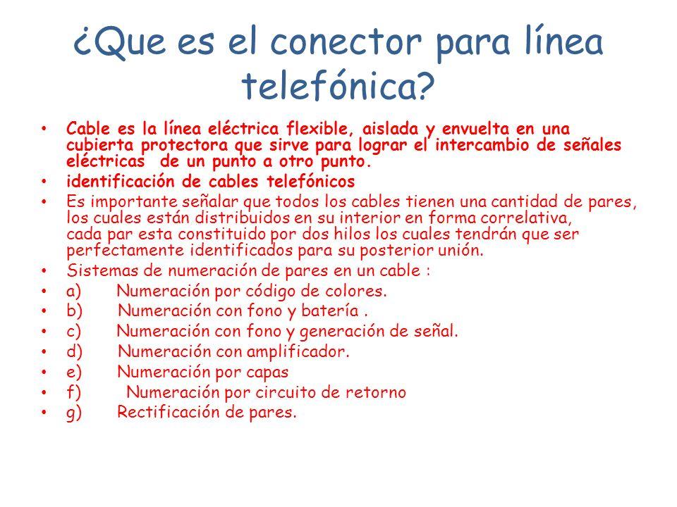 ¿Que es el conector para línea telefónica
