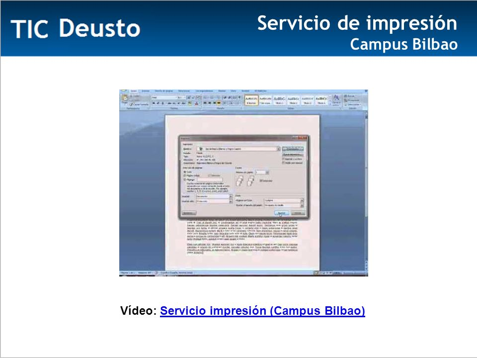 Servicio de impresión Campus Bilbao