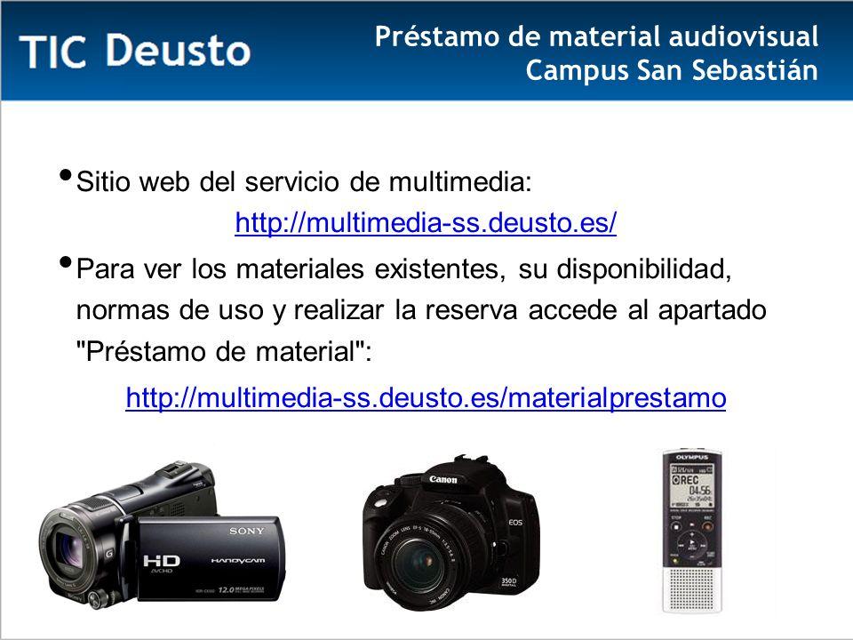 Préstamo de material audiovisual Campus San Sebastián