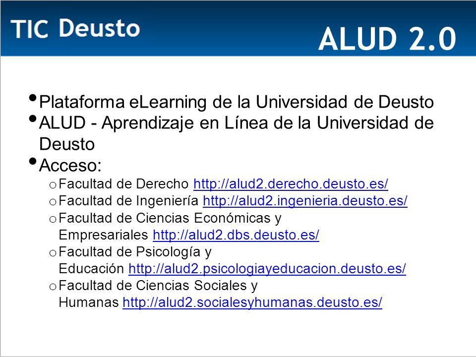 ALUD 2.0 Plataforma eLearning de la Universidad de Deusto