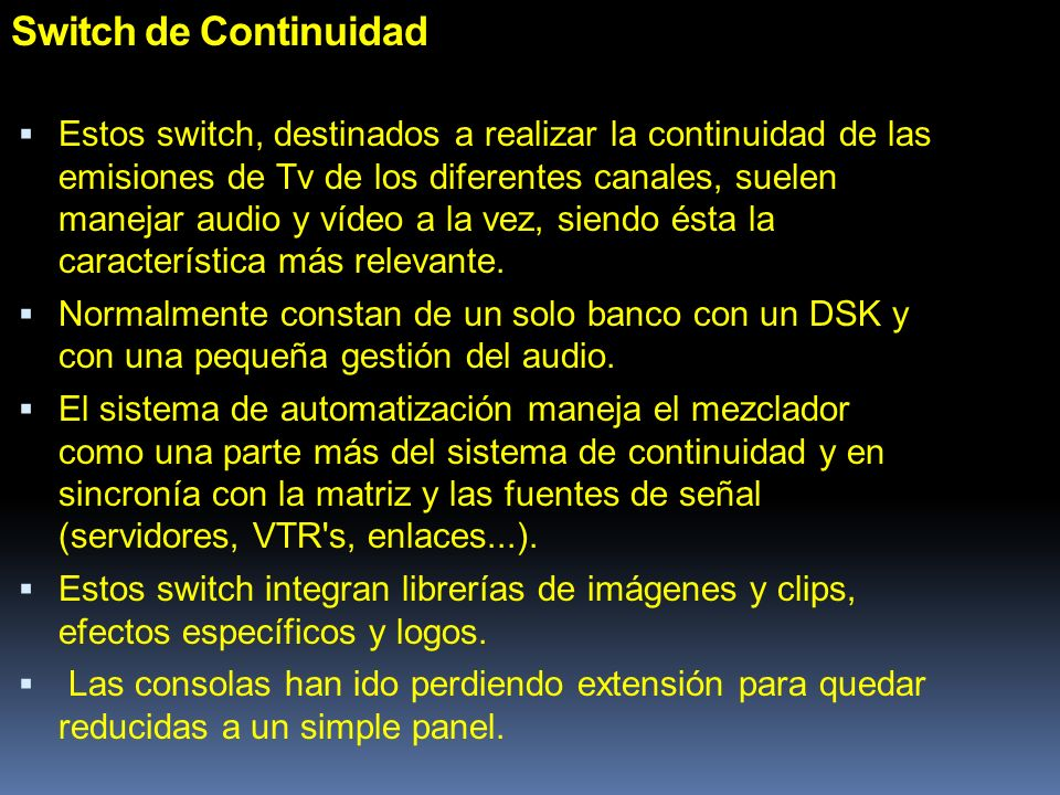 Switch de Continuidad