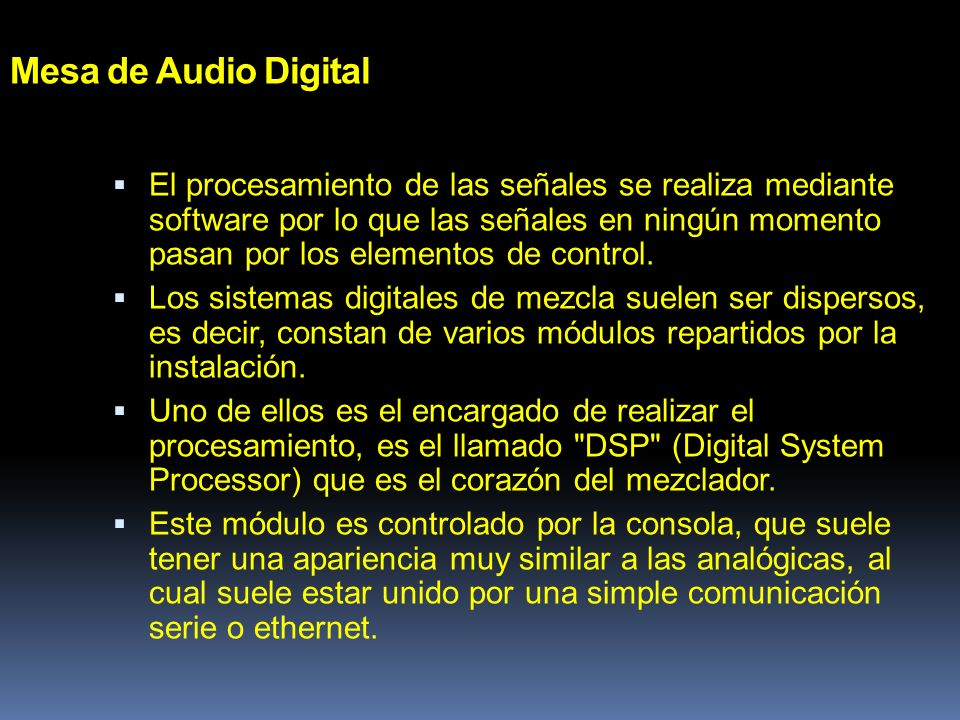 Mesa de Audio Digital