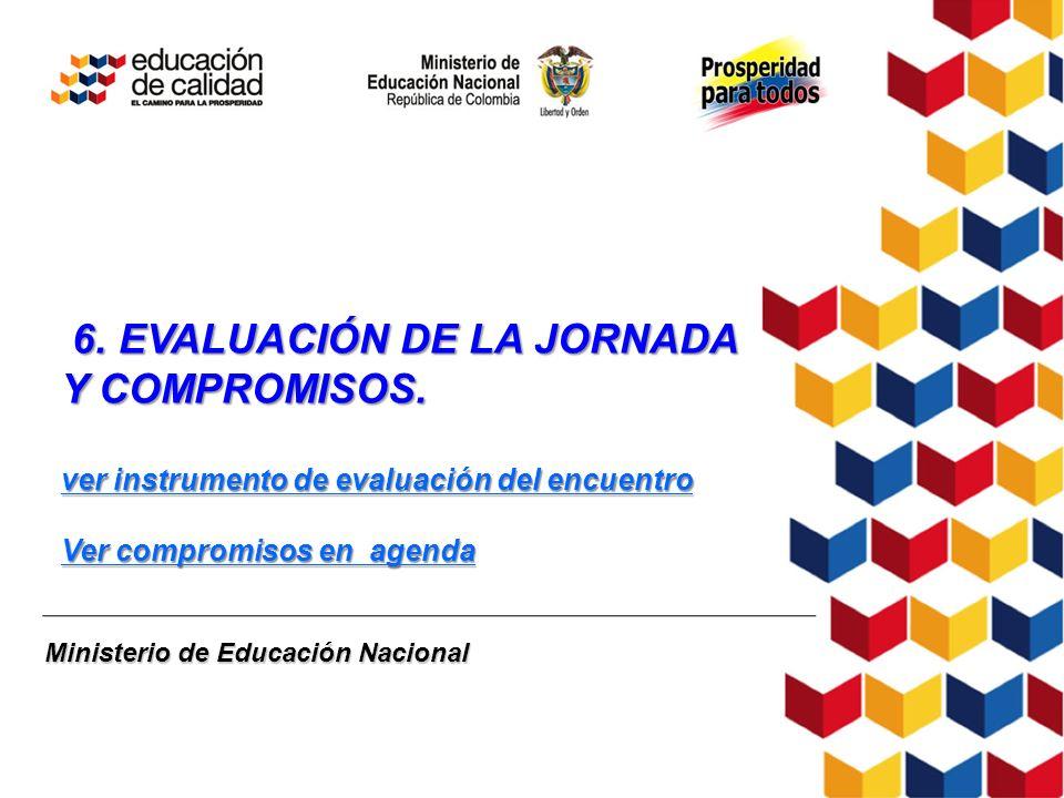 6. EVALUACIÓN DE LA JORNADA Y COMPROMISOS.