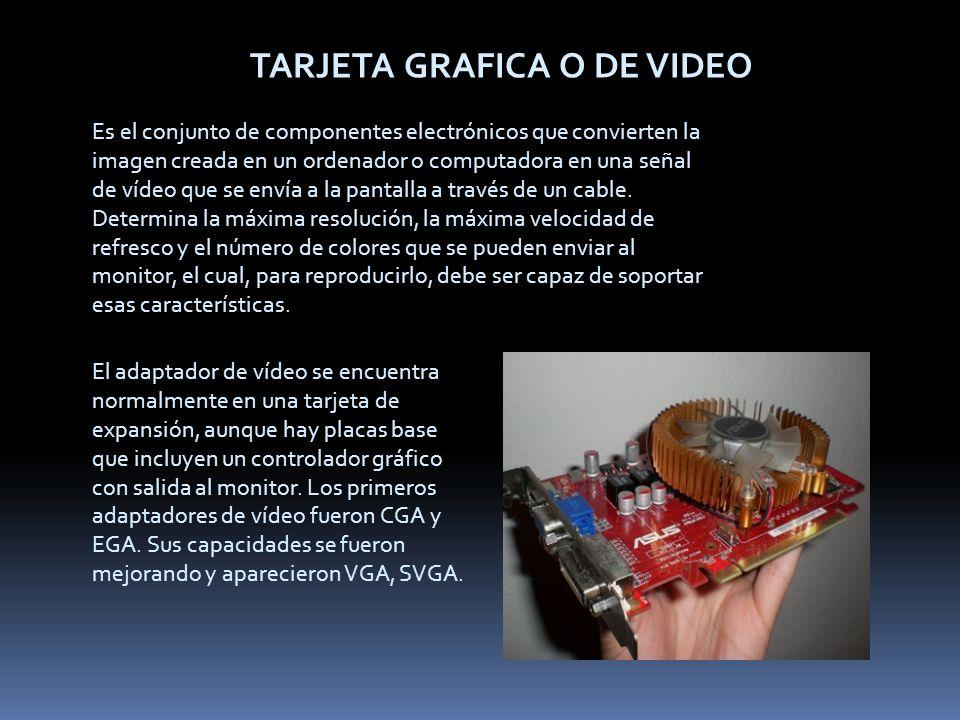 TARJETA GRAFICA O DE VIDEO