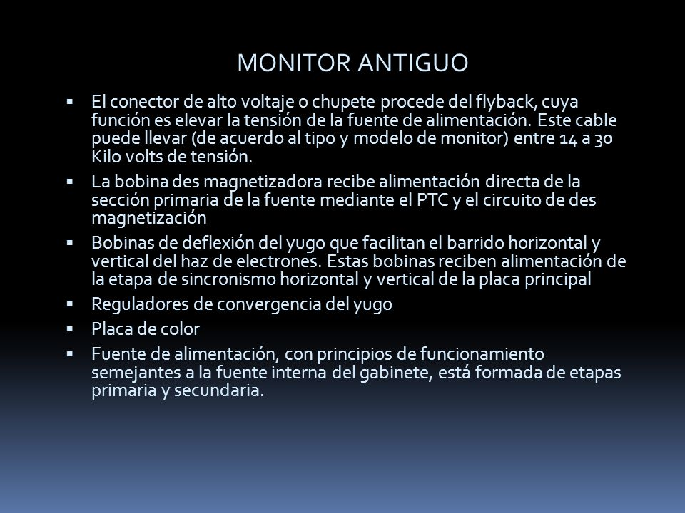 MONITOR ANTIGUO