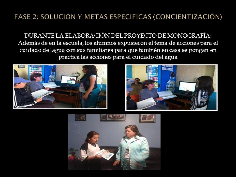 FASE 2: SOLUCIÓN Y METAS ESPECIFICAS (CONCIENTIZACIÓN)