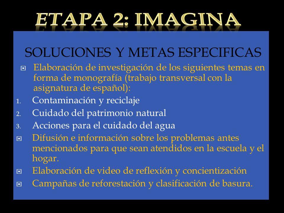 SOLUCIONES Y METAS ESPECIFICAS
