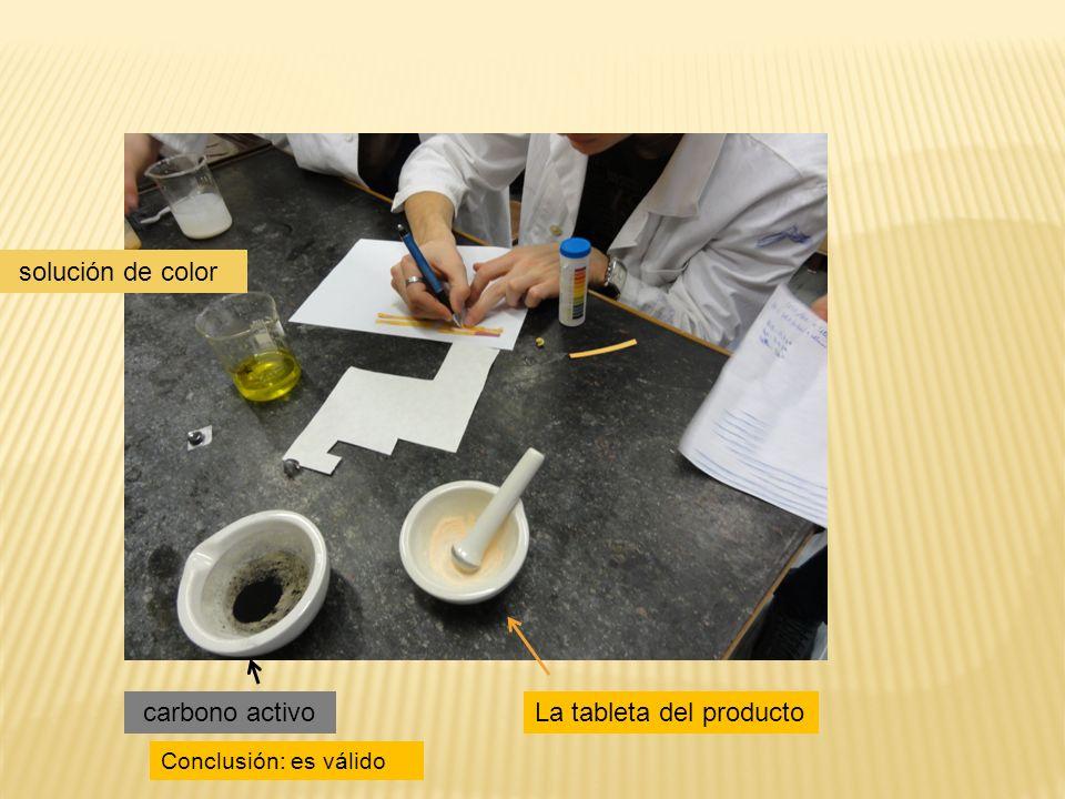 La tableta del producto