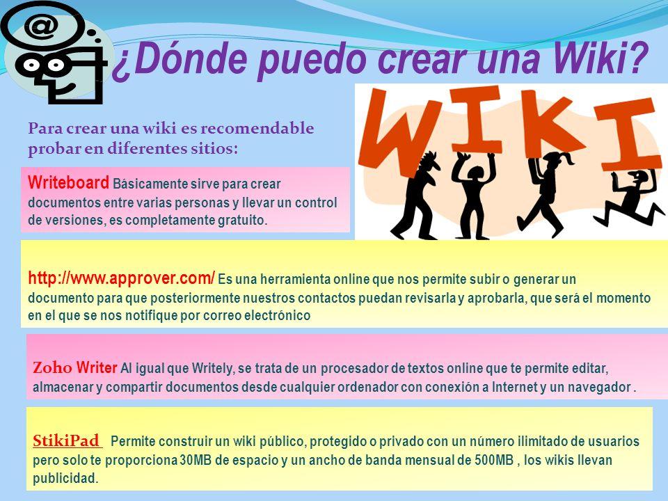 ¿Dónde puedo crear una Wiki