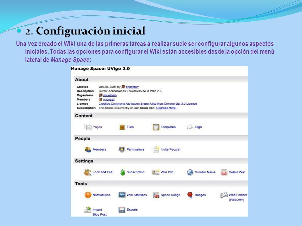 2. Configuración inicial